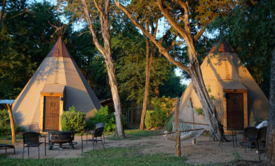 Tuck Away in a Tipi for the Night at Reservation on the Guadalupe