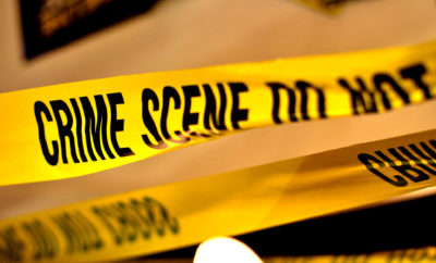 Yellow Crime Scene Tape drive-by shooting