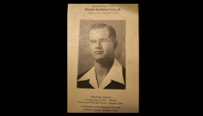 Pearl Harbor Victim Finally Laid to Rest at Home in Arlington