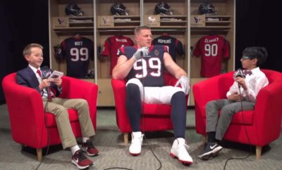 'Watt's Up': J.J. Watt Gets Candid With Kid Reporters