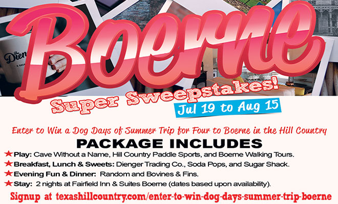 Enter to Win a Dog Days of Summer Trip for Four to Boerne in the Hill Country!