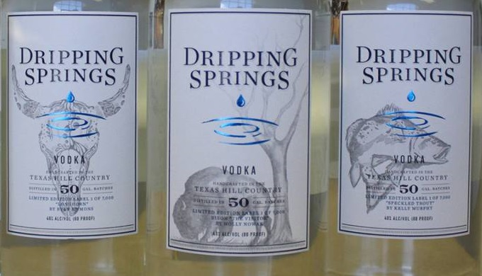 Dripping Springs Vodka Bottles