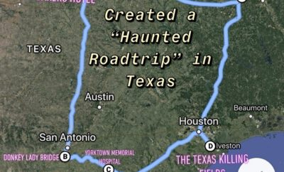 This Viral Map of a Haunted Texas Road Trip Includes Donkey Lady Bridge