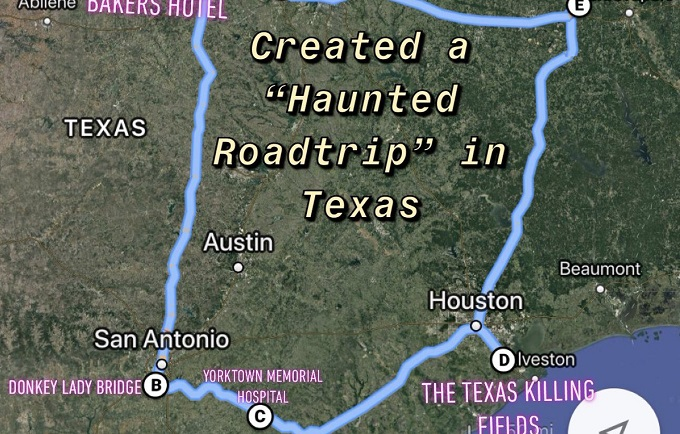 Texas Killing Fields Map This Viral Map of a Haunted Texas Road Trip Includes Donkey Lady