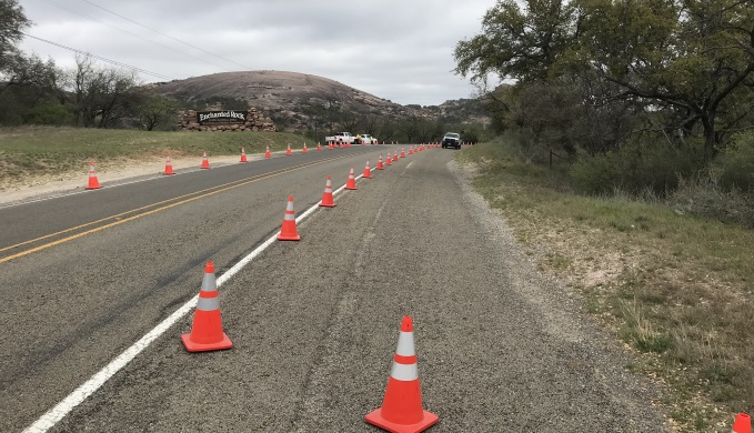 Enchanted Rock Traffic Cones