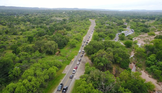 Enchanted Rock Traffic South View