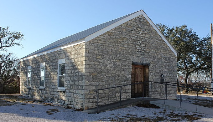 Early School Building in Oatmeal, Texas
