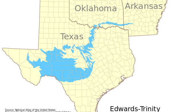 Edwards Aquifer and the Trinity River System