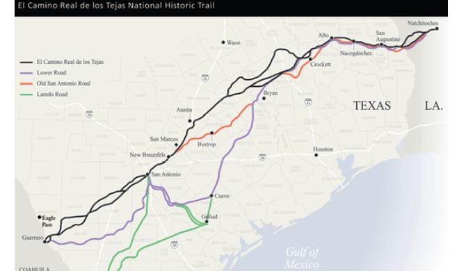 El Camino Real de los Tejas is a part of Comanche Lookout Park history