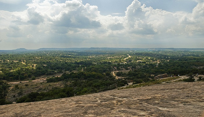 The beauty you can see on top of Enchanted Rock