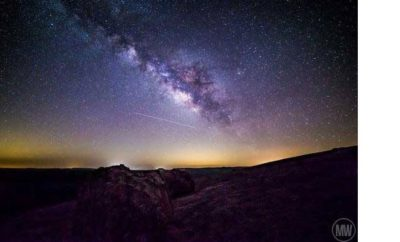 Milky Way above Enchanted Rock State Natural Area