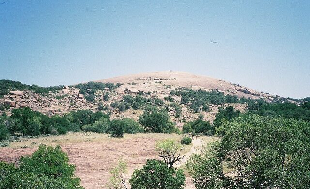 Enchanted Rock in the Llano Uplift is a large granite dome