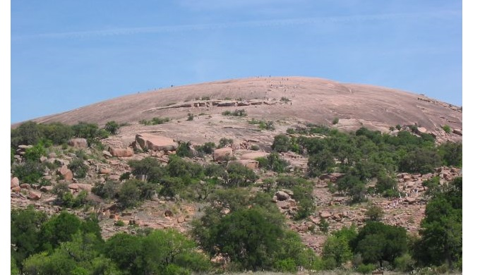 Enchanted Rock is Made of the Intrusive Igneous Rock Texas Pink Granite