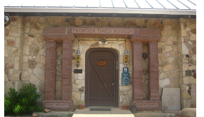 Entrance to Frontier Times Museum in Bandera