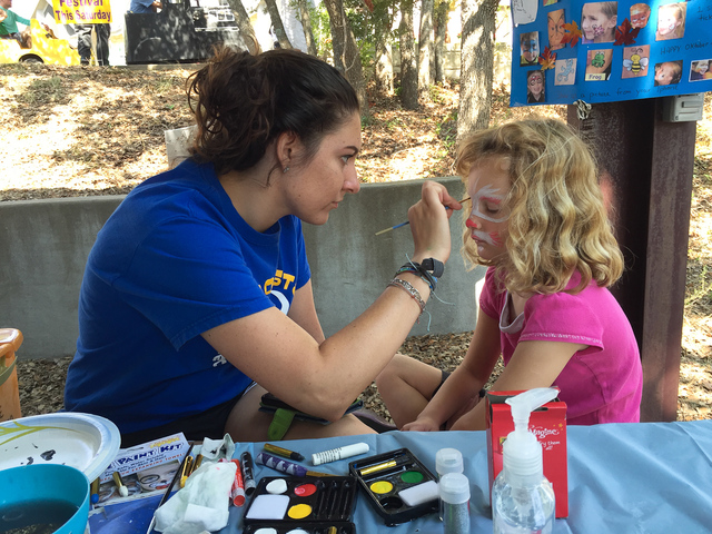 Facepainting at the St Mary's Oktoberfest
