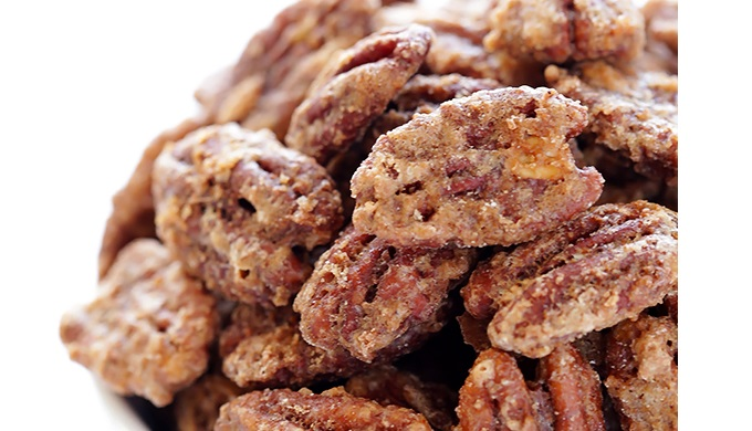 Food gifts candied pecans