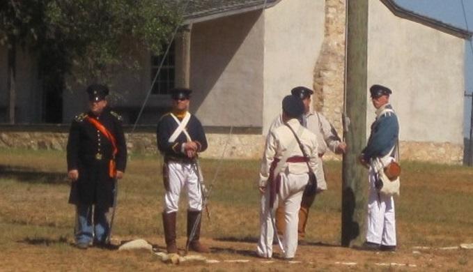 Fort Martin Scott Flag Raising Ceremony