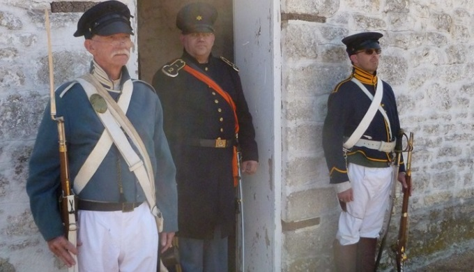 Re-enactors at Fort Martin Scott