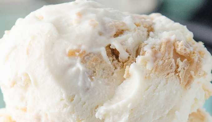 Fresh April Flours Peanut Butter Ripple No Churn Ice Cream