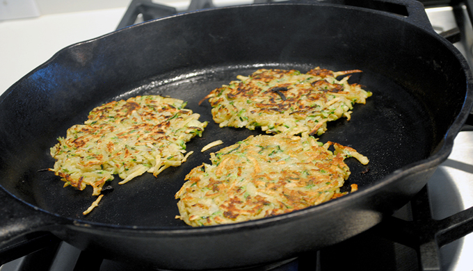 Fritters in Skillet - next-course.com