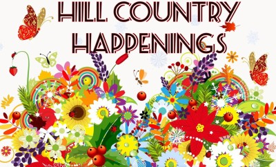Hill Country Happenings with retro flowers