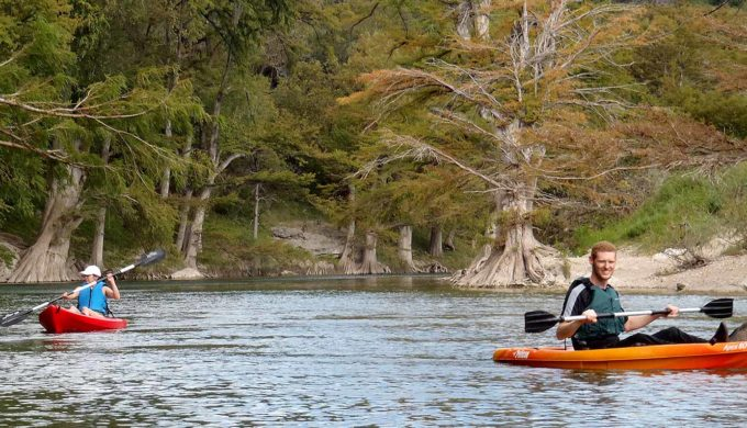 Canoeing the Guadalupe River