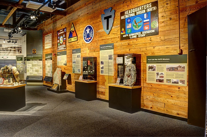 One of the galleries at Texas Military Forces Museum