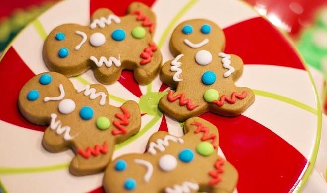 Festive Christmas Gingerbread Cookies