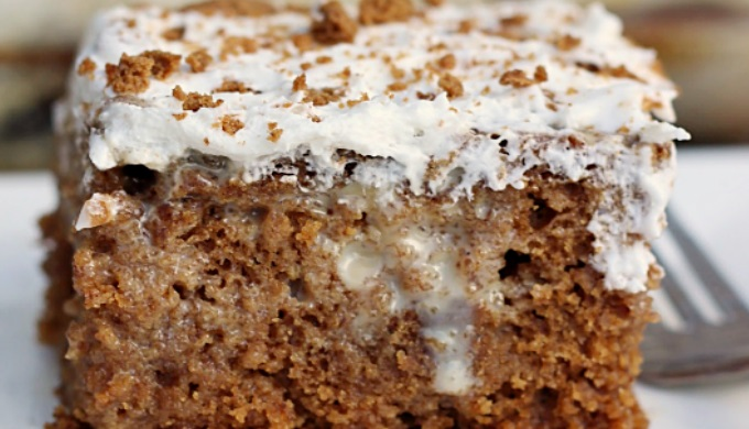 Gingerbread Recipes Gingerbread Caramel Poke Cake