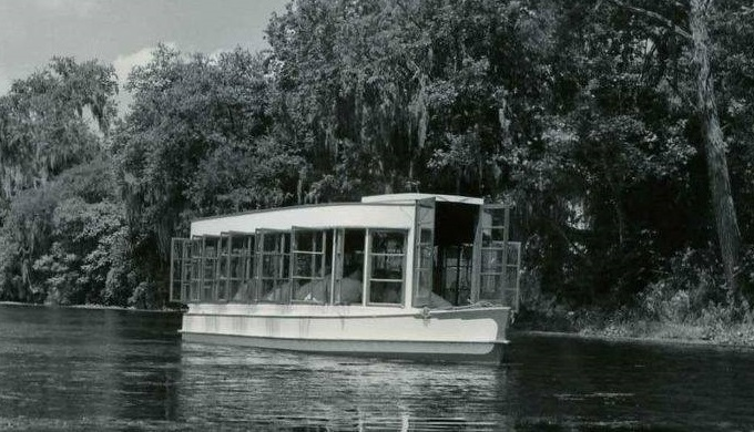 Glass-bottom Boat from the 1940s Aquarena Springs