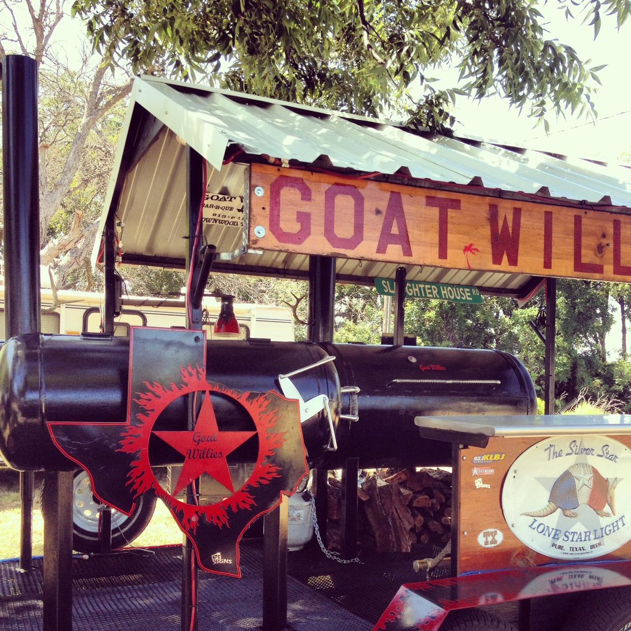 Goat Willies BBQ Goat