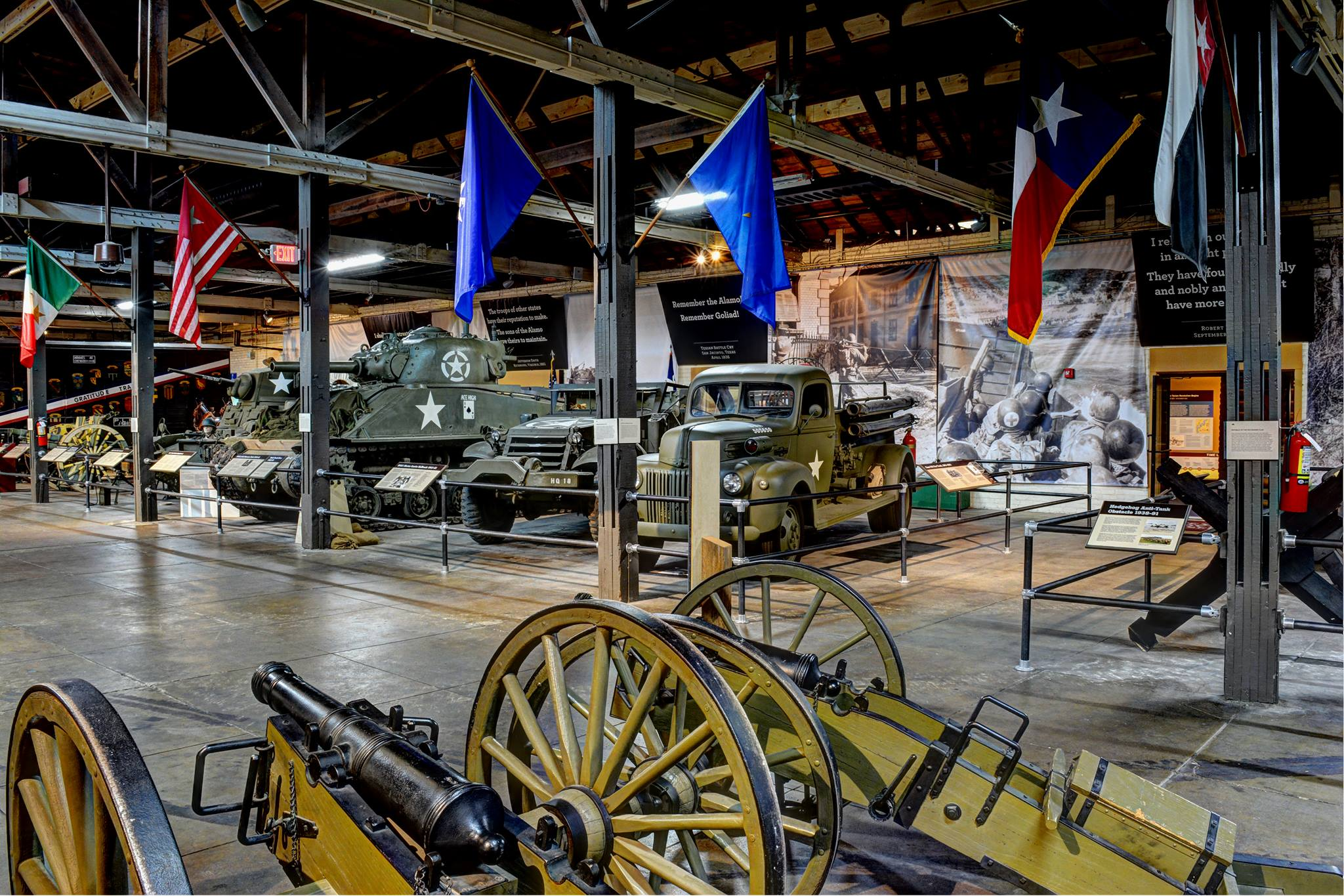 The Great Hall of the Texas Military Forces Museum