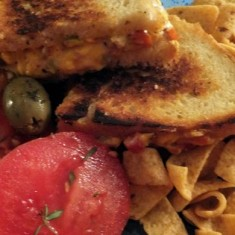 Grilled Bacon, Jalapeno, & Pimento Cheese Sandwich