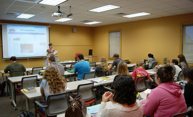 Hill Country University Center classroom