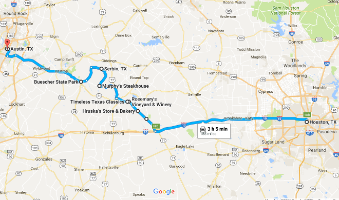 Road Map Of Austin Texas.7 Must Do Stops On The Road Between Houston And Austin