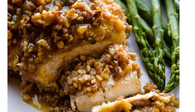 Honey Recipes Walnut Crusted Chicken