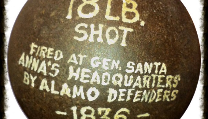 18 pound cannonball fired at General Santa Anna during Battle for Texas