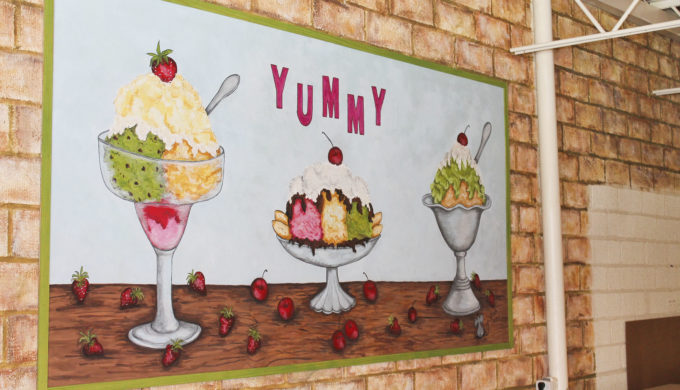 Wall Mural at Happy Scoops