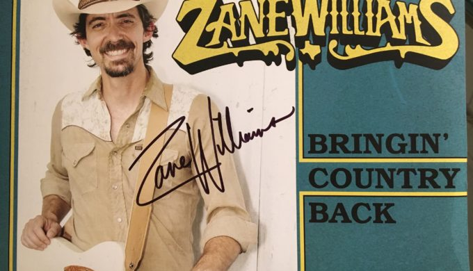 Texas Music artist Zane Williams album Bringin' Country Back with autograph