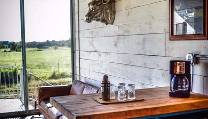 Luxurious Eco-Chic Shipping Container Hotel Now Open in Round Top Texas