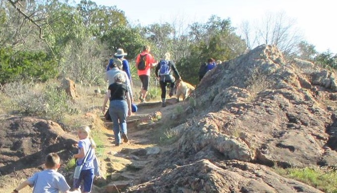 Inks Lake State Park People Hiking