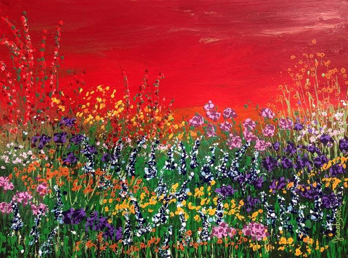 FLORAL FANTASY by Linda Calvert Jacobson