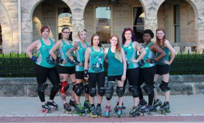 KCRD team photo Roller Derby