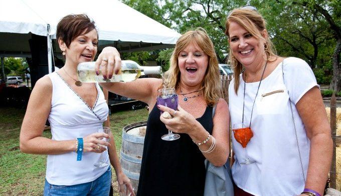 Ladies at Gruene wine fest
