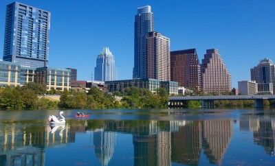 Austin Skyline from Lady Bird Lake