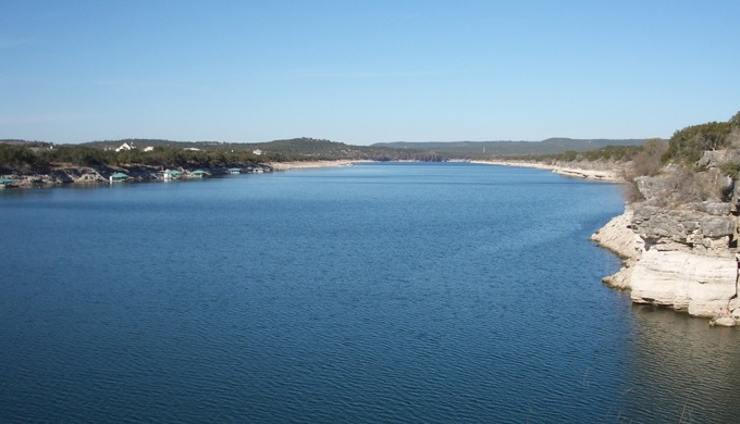Lake Travis seen from Pace Bend Park