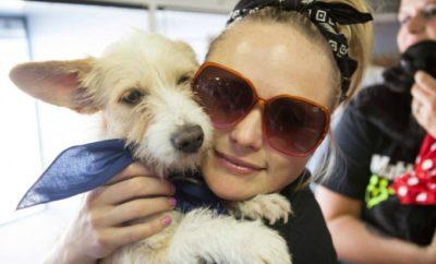 Lambert with dog