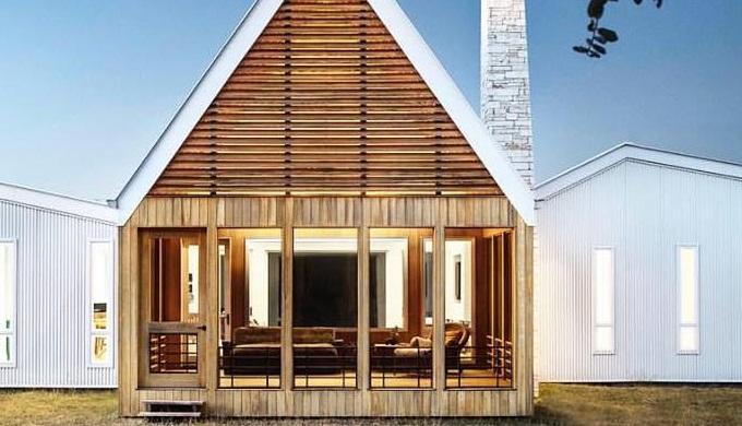 Large windows abound on Miro Rivera Architects' Milagro Springs Retreat design