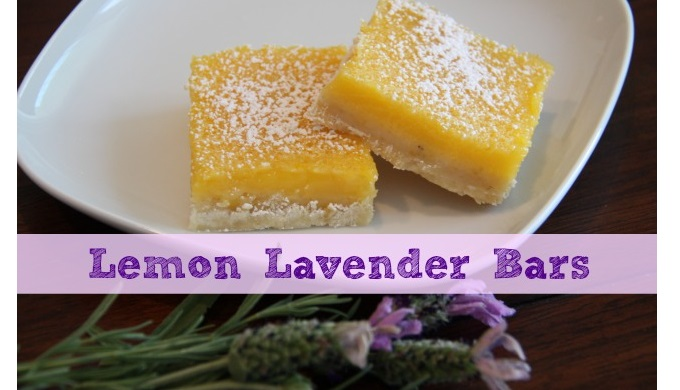 Lemon Lavender Bars