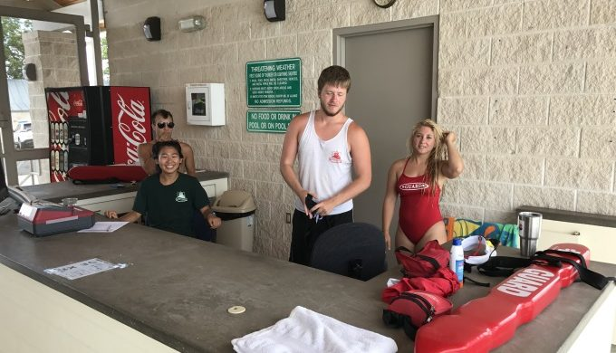 Lifeguards at Fredericksburg City Pool